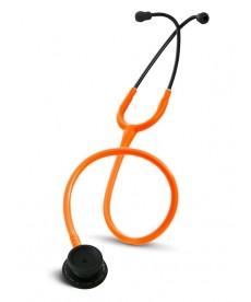 Stetoskop Internistyczny SPIRIT CK-601CPF Majestic Series Adult Dual Head BLACK EDITION z pomarańczowym drenem