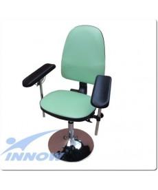 Krzesło do pobierania krwi chromowane - obrotowe