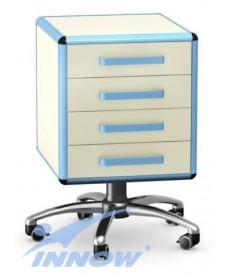 Asystor - stolik wielofunkcyjny, 4 szuflady z płyty meblowej