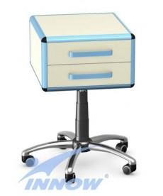 Asystor - stolik wielofunkcyjny, 2 szuflady z płyty meblowej