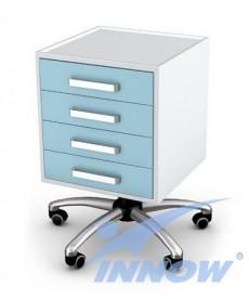 Asystor- stolik wielofunkcyjny 4 szuflady, stal lakier. proszkowo