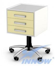 Asystor- stolik wielofunkcyjny 3 szuflady, stal lakier. proszkowo