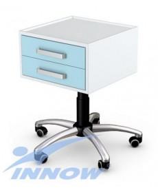 Asystor- stolik wielofunkcyjny 2 szuflady, stal lakier. proszkowo