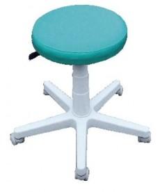 Taboret medyczny (lekarski) ,pneumat.regul.wysokości,zmywalny na kółkach