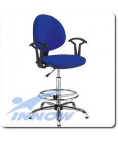 Krzesło (taboret) medyczny lekarski wysoki z oparciem chromowany