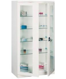 Szafa lekarska dwuczęściowa (drzwi szklone), metalowa