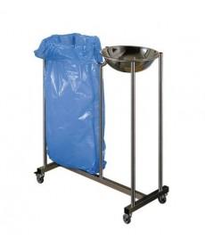 Pojemnik zespolony na odpady ze stali nierdzewnej INOX