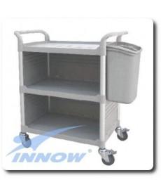 Wózek medyczny, trzypółkowy, zabudowany