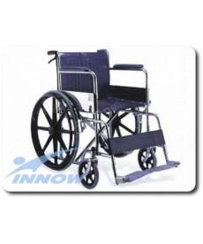 Wózek inwalidzki - koła pełne, z hamulcem dla prowadzącego