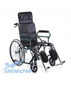 Wózek inwalidzki - leżakowy z podwyższonym i odchyl. oparciem