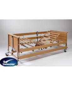 Łóżko rehabilitacyjne elektryczne w obudowie drewnianej