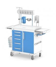 Wózek wielofunkcyjny: szafka na 5 szuflad + 1 drzwiczki MULTI-03/ABS