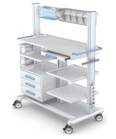 Wózek pod aparaturę medyczną seria APAR-3 PAR140-5