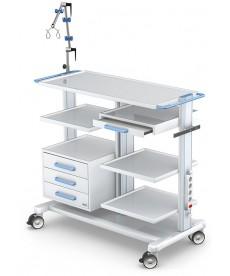 Wózek pod aparaturę medyczną seria APAR-3 PAR100-2