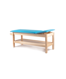 Drewniany stół rehabilitacyjny SR-F do fizykoterapii z półką