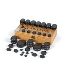 Zestaw 50 kamieni do masażu