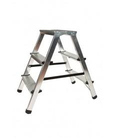 Drabina aluminiowa dwustronna 2x3 stopnie