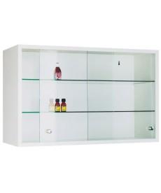 Szafka lekarska wisząca, metalowa, drzwi szklane, przesuwne