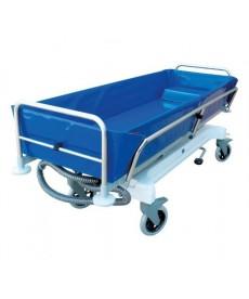 Wózek transportowo kąpielowy w poz.leżącej z regul.hydraulicz.wysokości (wózek do kąpieli)
