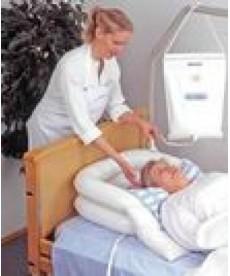 Wanienka do mycia głowy w łóżku - pompowana - zestaw z prysznicem