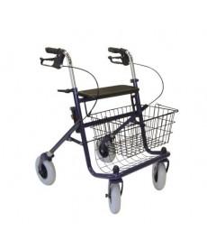 Balkonik spacerowy z hamulcami i koszykiem, 4 kołowy