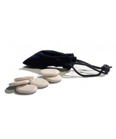 zestaw 6 kamieni do masażu z marmuru białego