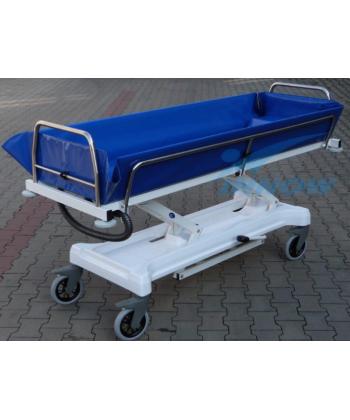 C213 EVO – Wózek transportowo-kąpielowy z hydrauliczną regulacją wysokości
