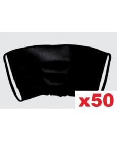 Maski jednorazowe plisowane czarne 50szt