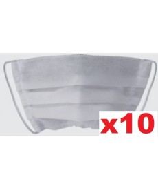 Maski jednorazowe plisowane białe 10szt