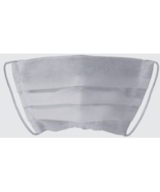 Maska jednorazowa plisowana biała 1szt