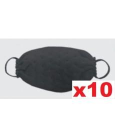 Maski jednorazowe z wzorem w kropki czarne 10szt