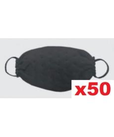 Maski jednorazowe z wzorem w kropki czarne 50szt