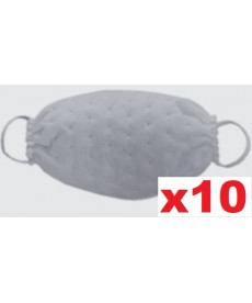 Maski jednorazowe z wzorem w kropki białe 10szt